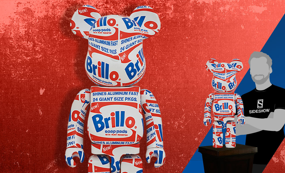 "Gallery Feature Image of Be@rbrick Andy Warhol ""Brillo"" 1000% Collectible Figure - Click to open image gallery"