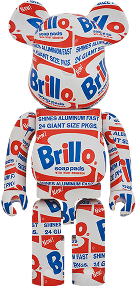 "Medicom Toy Be@rbrick Andy Warhol ""Brillo"" 1000% Collectible Figure"