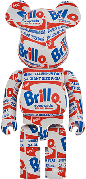 "Be@rbrick Andy Warhol ""Brillo"" 1000% Collectible Figure"