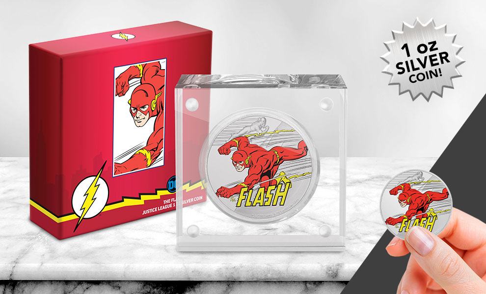 Gallery Feature Image of The Flash 1oz Silver Coin Silver Collectible - Click to open image gallery