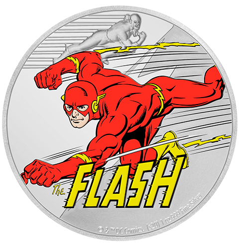 New Zealand Mint The Flash 1oz Silver Coin Silver Collectible