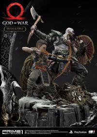 Gallery Image of Kratos & Atreus Ivaldi's Deadly Mist Armor Set Statue
