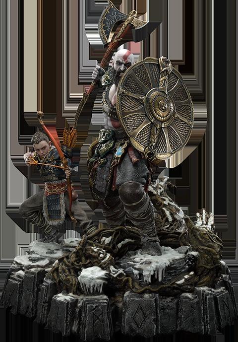 Prime 1 Studio Kratos & Atreus Ivaldi's Deadly Mist Armor Set Statue