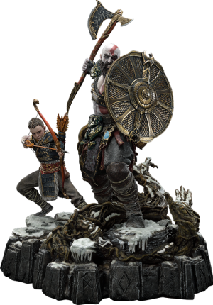 Kratos & Atreus Ivaldi's Deadly Mist Armor Set Statue