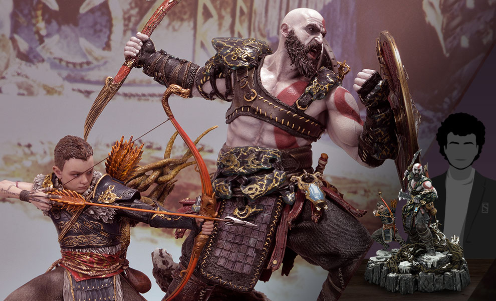 Gallery Feature Image of Kratos & Atreus Ivaldi's Deadly Mist Armor Set (Deluxe Version) Statue - Click to open image gallery