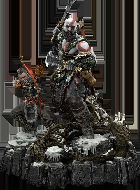 Prime 1 Studio Kratos & Atreus Ivaldi's Deadly Mist Armor Set (Deluxe Version) Statue