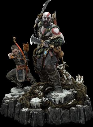 Kratos & Atreus Ivaldi's Deadly Mist Armor Set (Deluxe Version) Statue