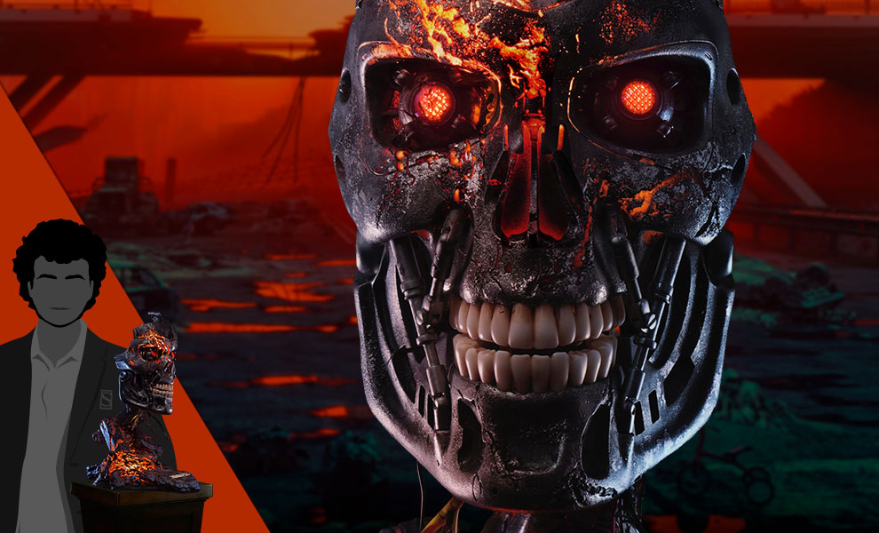 Gallery Feature Image of T-800 Battle Damaged Art Mask Life-Size Bust - Click to open image gallery