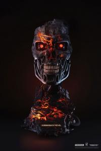 Gallery Image of T-800 Battle Damaged Art Mask Life-Size Bust