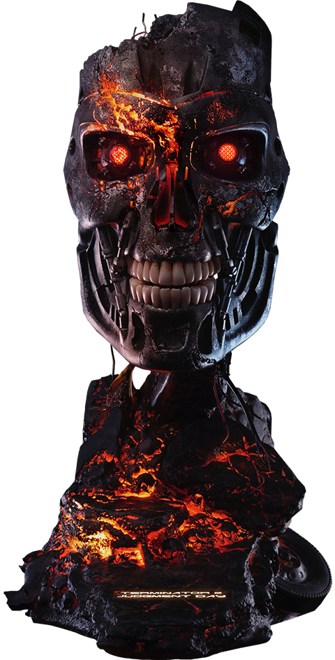 PureArts T-800 Battle Damaged Art Mask Life-Size Bust