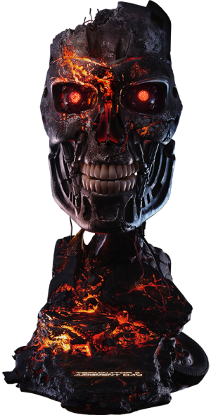 T-800 Battle Damaged Art Mask Life-Size Bust