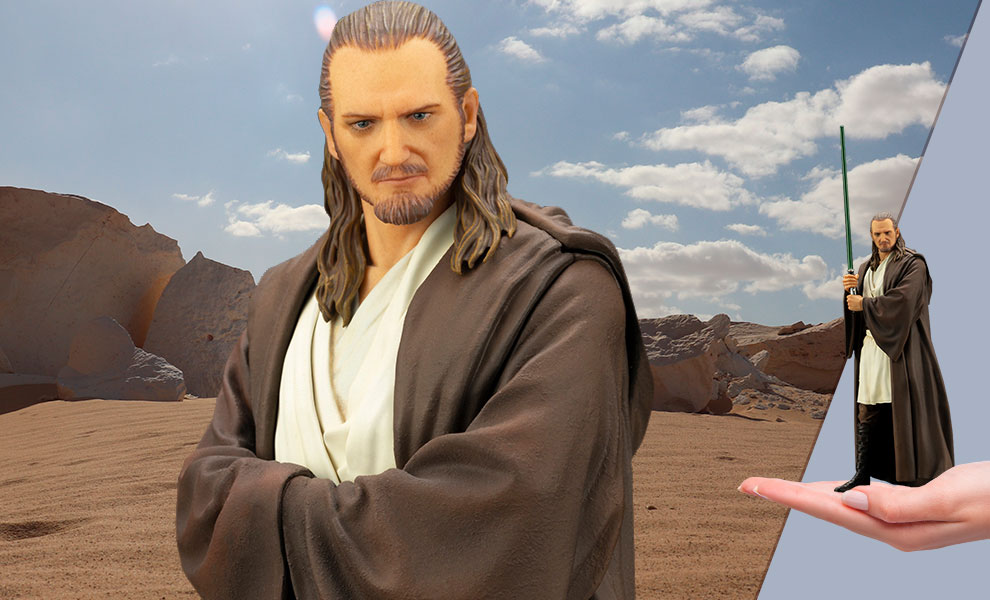 Gallery Feature Image of Qui-Gon Jinn 1:10 Scale Statue - Click to open image gallery