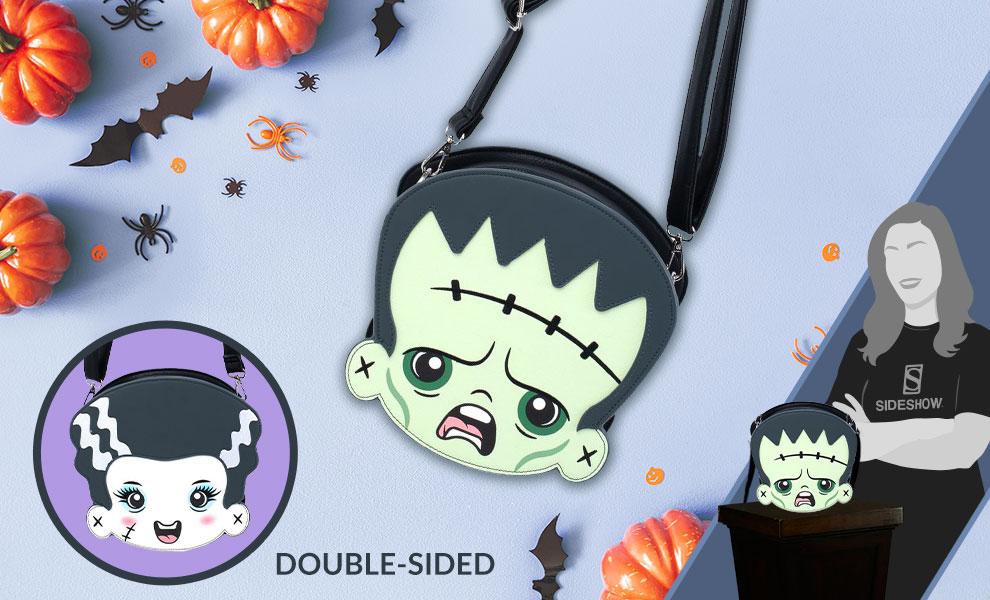 Gallery Feature Image of Frankenstein & Bride of Frankenstein Crossbody Bag Apparel - Click to open image gallery