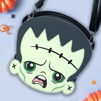Frankenstein & Bride of Frankenstein Crossbody Bag Apparel