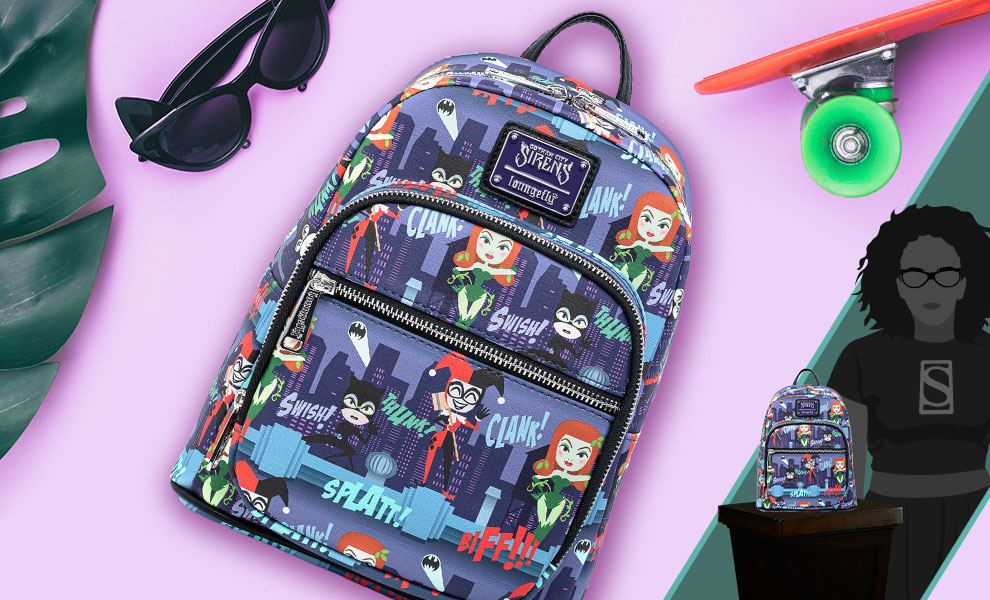 Gallery Feature Image of Ladies of DC AOP Mini Backpack Apparel - Click to open image gallery
