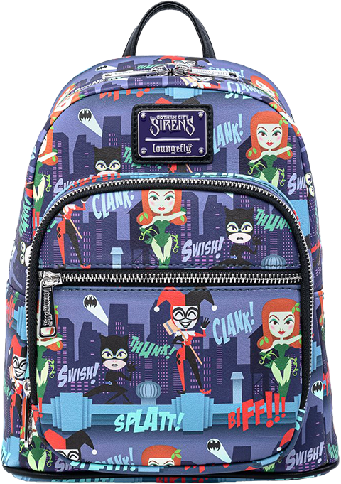 Loungefly Ladies of DC AOP Mini Backpack Apparel