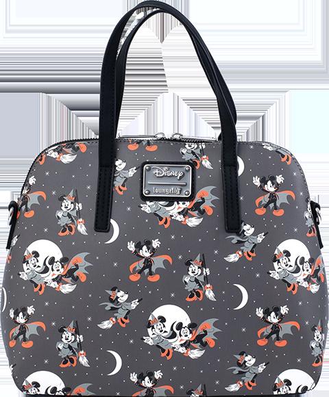 Loungefly Mickey and Minnie Halloween AOP Crossbody Apparel