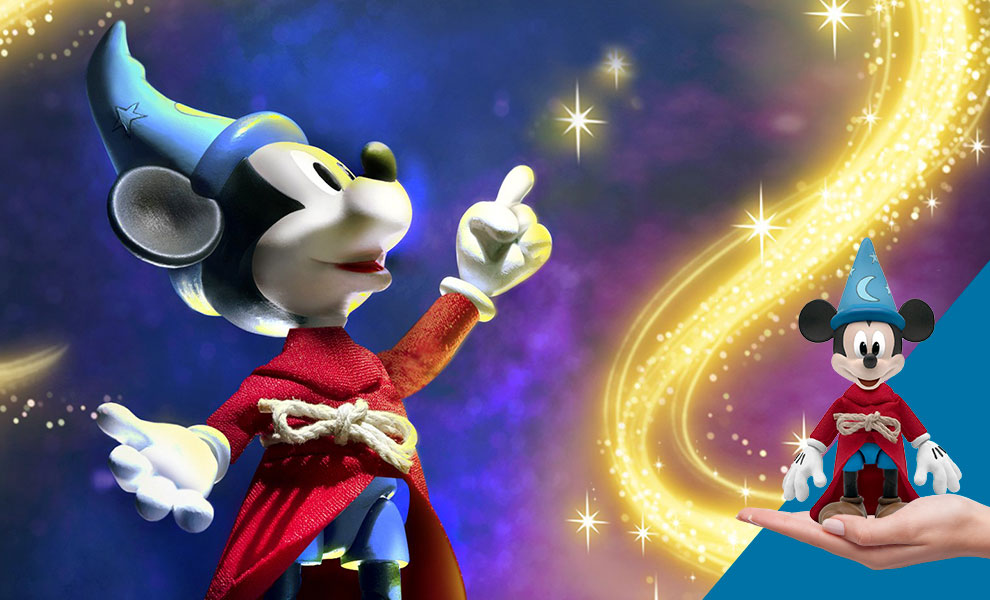 Gallery Feature Image of Sorcerer's Apprentice Mickey Mouse Action Figure - Click to open image gallery