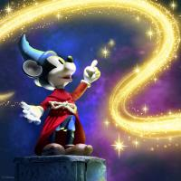 Gallery Image of Sorcerer's Apprentice Mickey Mouse Action Figure