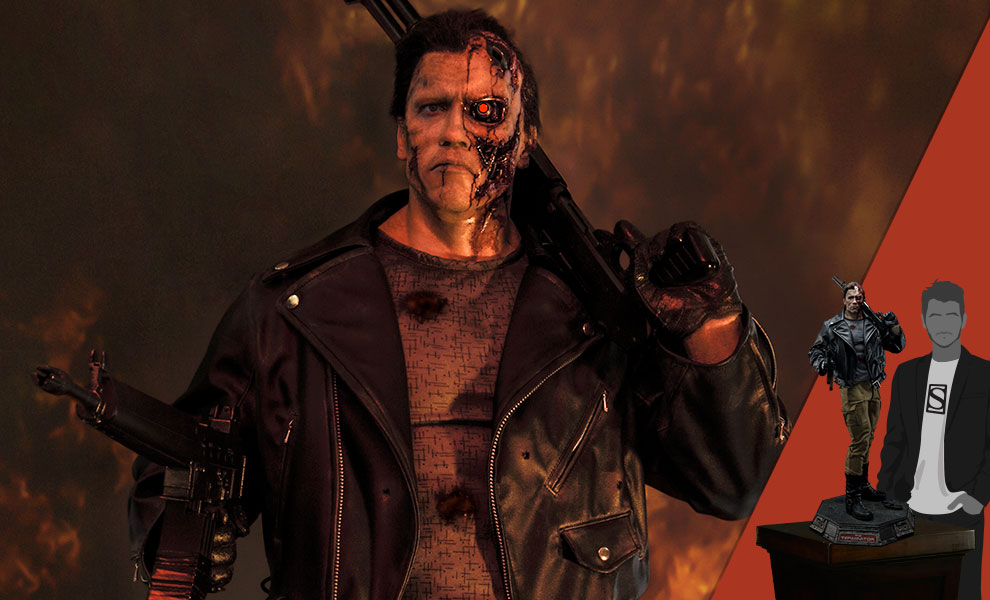 Gallery Feature Image of T-800 Terminator (Deluxe Version) Statue - Click to open image gallery