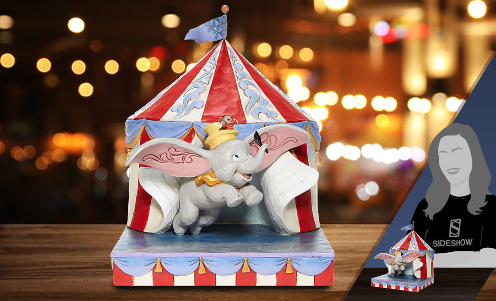 Gallery Feature Image of Dumbo Flying Out of Tent Scene Figurine - Click to open image gallery