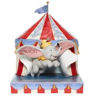 Gallery Image of Dumbo Flying Out of Tent Scene Figurine