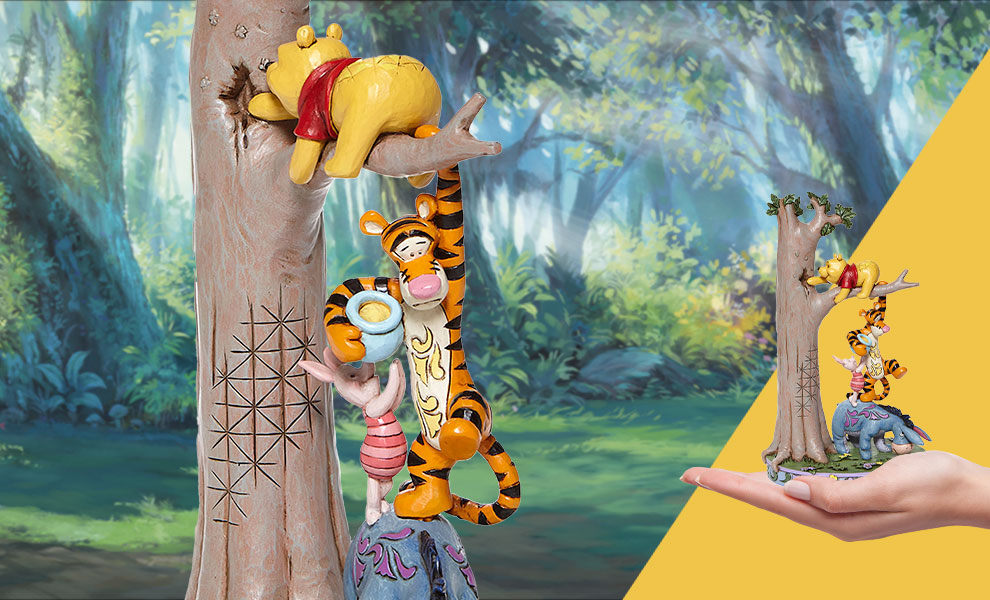 Gallery Feature Image of Tree with Pooh and Friends Figurine - Click to open image gallery