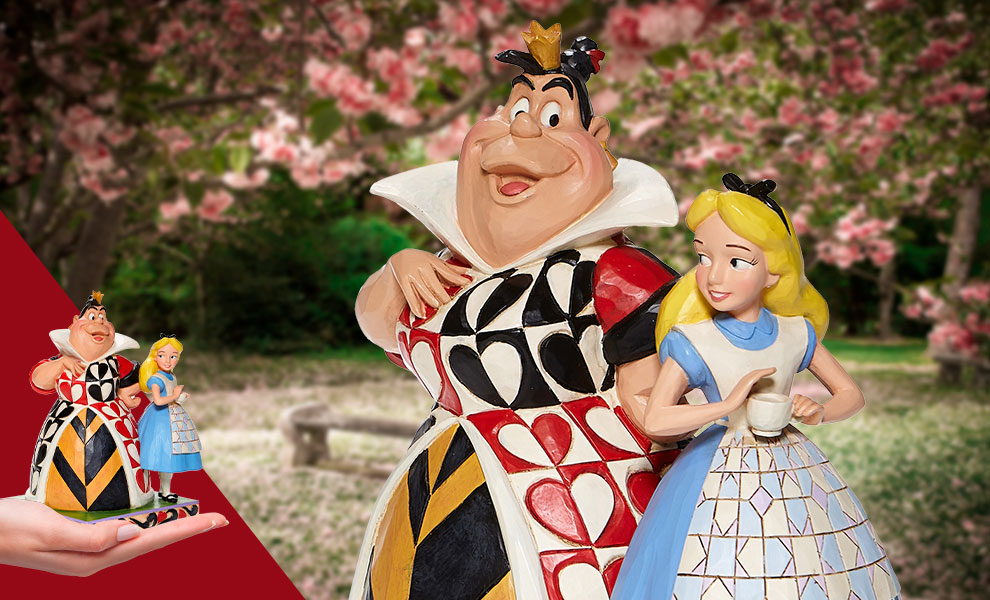 Gallery Feature Image of Alice & Queen of Hearts Figurine - Click to open image gallery