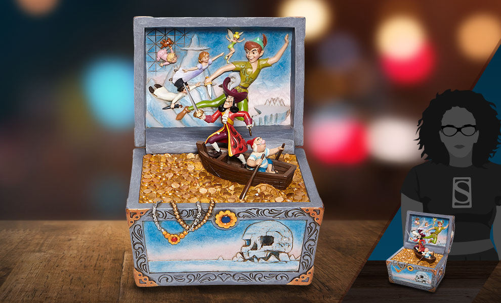 Gallery Feature Image of Peter Pan Treasure Chest Scene Figurine - Click to open image gallery