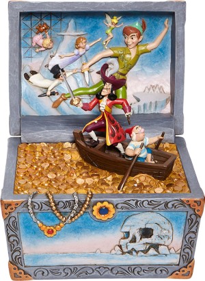 Peter Pan Treasure Chest Scene Figurine