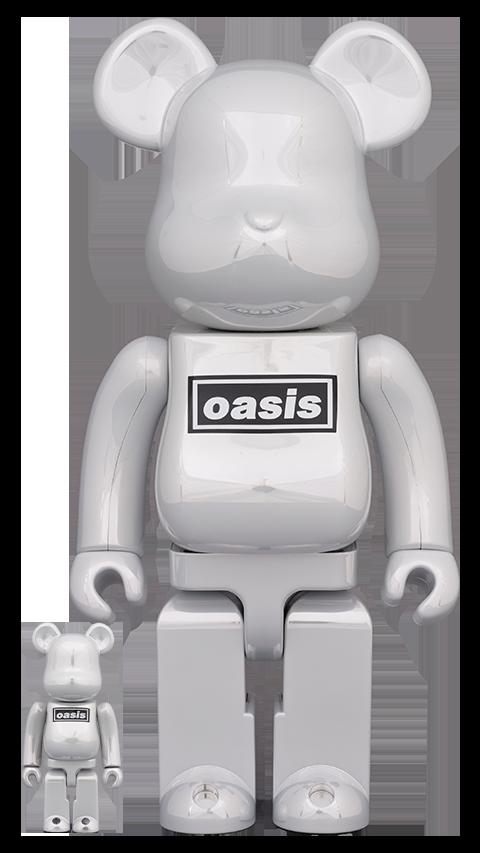 Medicom Toy Be@rbrick Oasis White Chrome 100% & 400% Bearbrick
