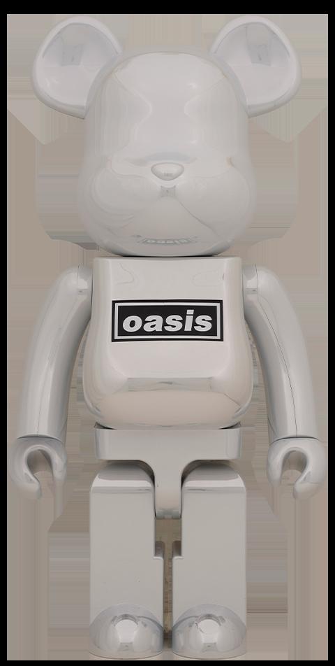 Medicom Toy Be@rbrick Oasis White Chrome 1000% Bearbrick