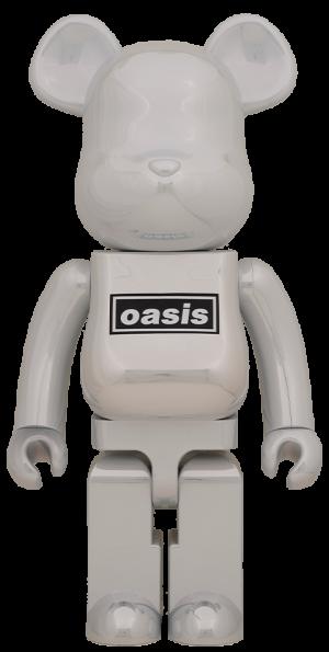 Be@rbrick Oasis White Chrome 1000% Bearbrick