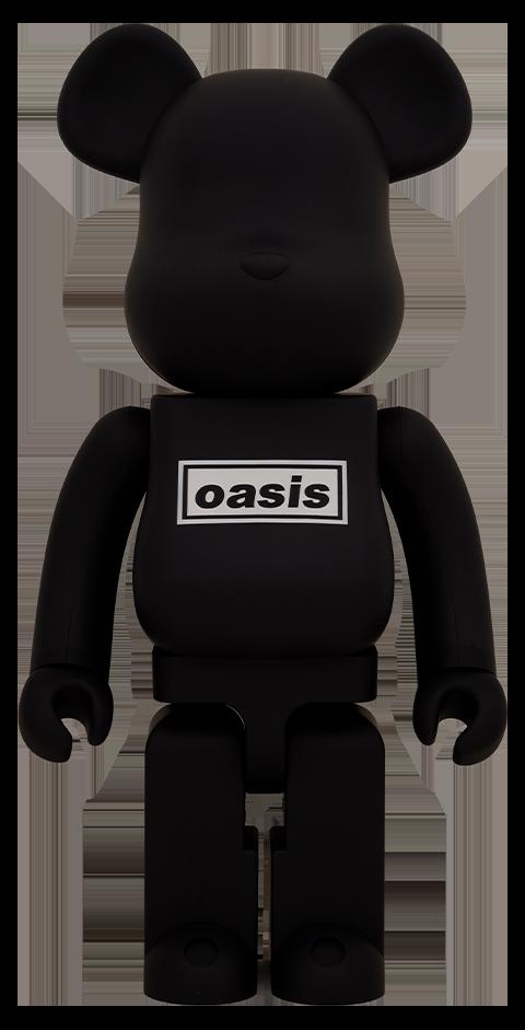 Medicom Toy Be@rbrick Oasis Black Rubber Coating 1000% Bearbrick