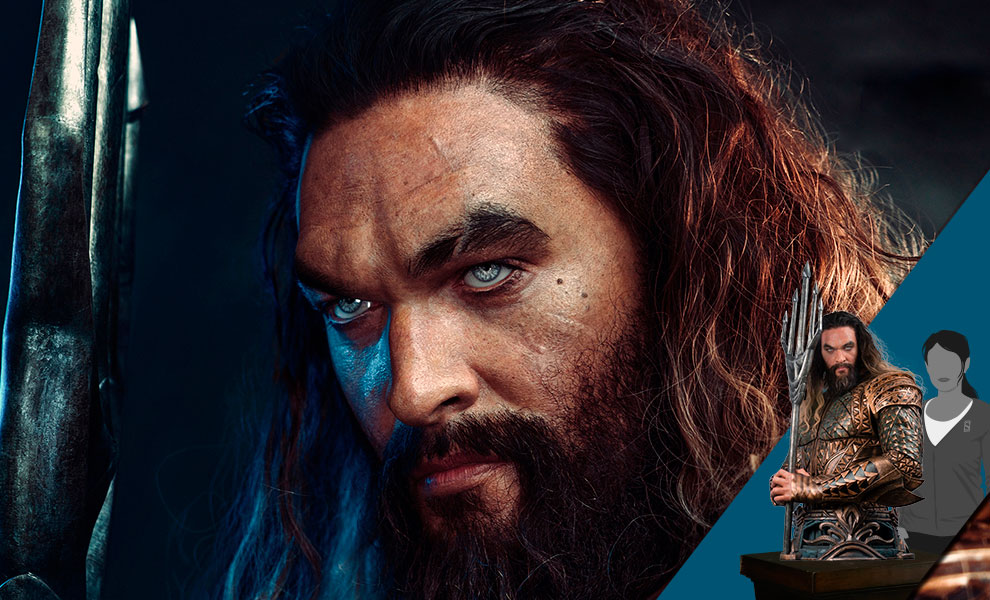 Gallery Feature Image of Aquaman Life-Size Bust - Click to open image gallery