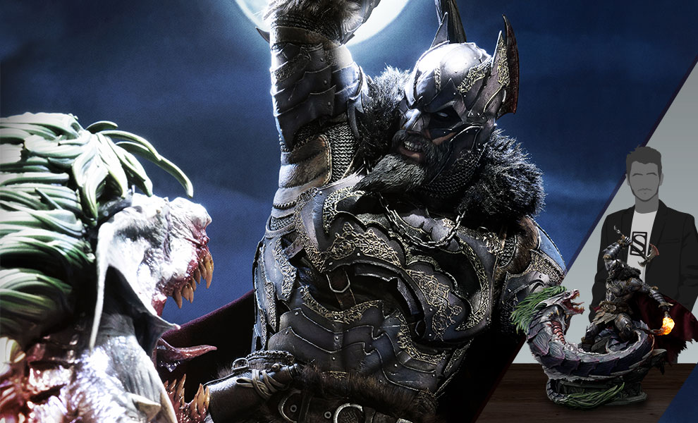 Gallery Feature Image of Batman VS Joker Dragon (Deluxe Version) Statue - Click to open image gallery