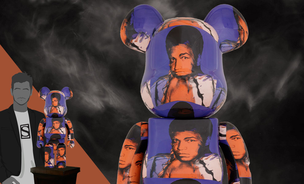 Gallery Feature Image of Be@rbrick Andy Warhol's Muhammad Ali 1000% Collectible Figure - Click to open image gallery