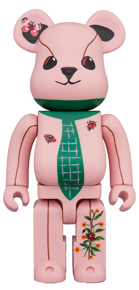 Medicom Toy Be@rbrick Nathalie Lété Ours a la cravate 400% Collectible Figure