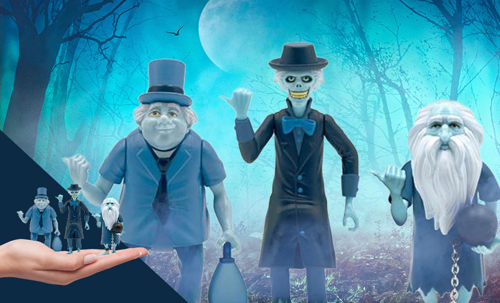 Gallery Feature Image of The Haunted Mansion ReAction Hitchhiking Ghosts 3-Pack Collectible Set - Click to open image gallery