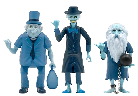 Super 7 The Haunted Mansion ReAction Hitchhiking Ghosts 3-Pack Collectible Set