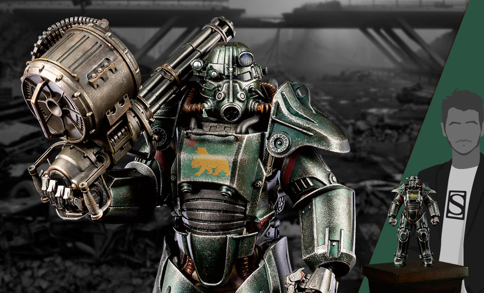 Gallery Feature Image of T-45 NCR Salvaged Power Armor Sixth Scale Figure - Click to open image gallery