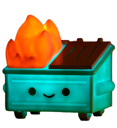 100% Soft Lil Dumpster Fire Night Light Collectible Lamp
