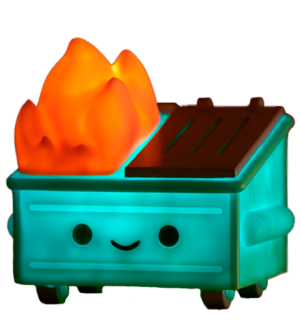 Lil Dumpster Fire Night Light Collectible Lamp