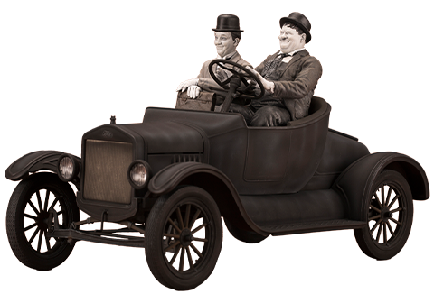 Infinite Statue Laurel & Hardy on Ford Model T Statue