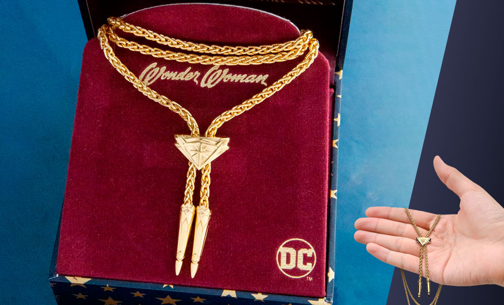 Gallery Feature Image of Wonder Woman Lasso Necklace (Gold) Jewelry - Click to open image gallery