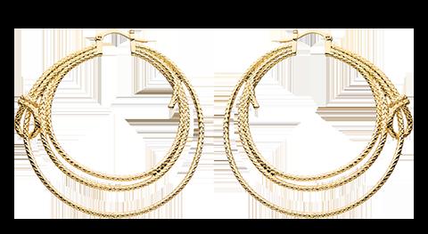RockLove Wonder Woman Lasso Hoop Earrings (Gold) Jewelry