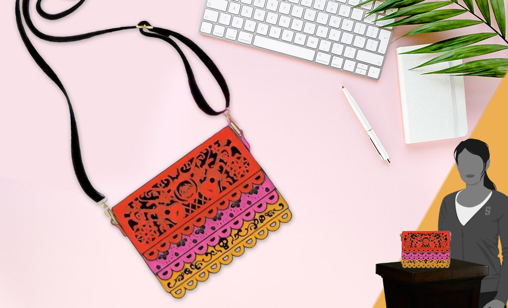 Gallery Feature Image of Coco Diecut Party Flags Crossbody Apparel - Click to open image gallery