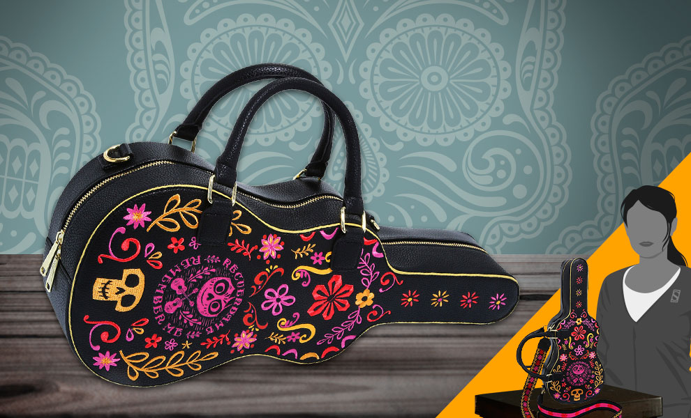 Gallery Feature Image of Coco Guitar Case Crossbody Apparel - Click to open image gallery
