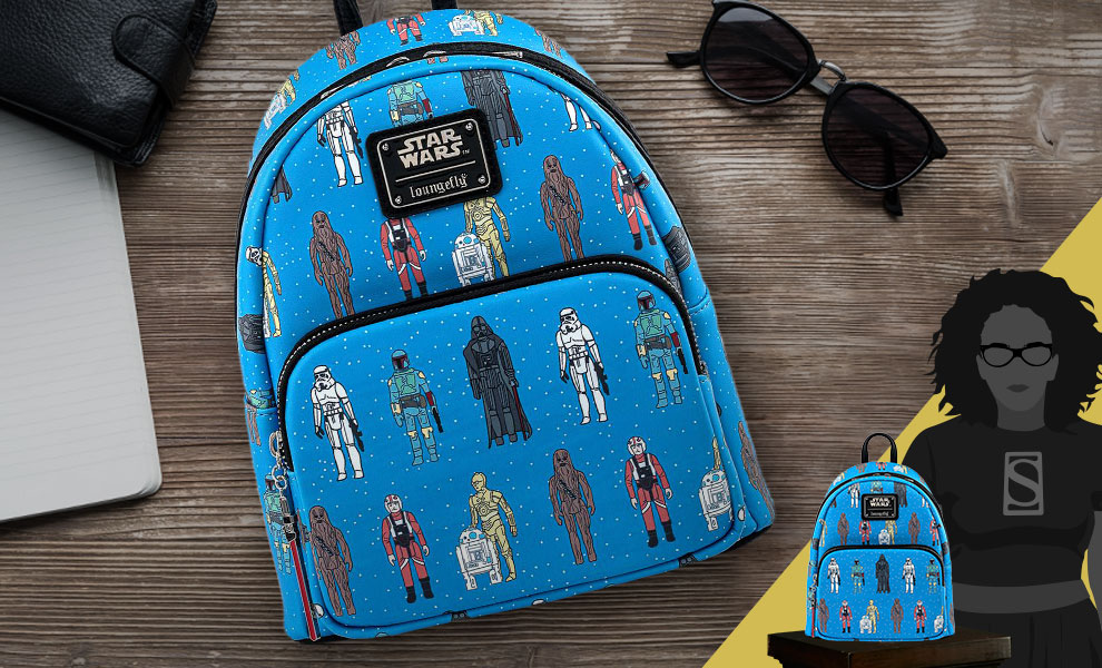 Gallery Feature Image of Star Wars Action Figure Mini Backpack Apparel - Click to open image gallery