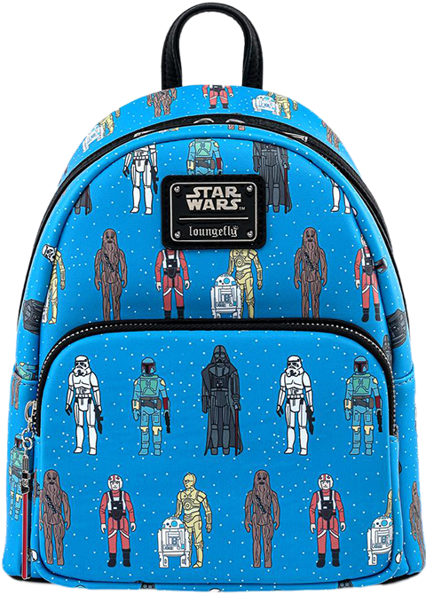 Loungefly Star Wars Action Figure Mini Backpack Apparel